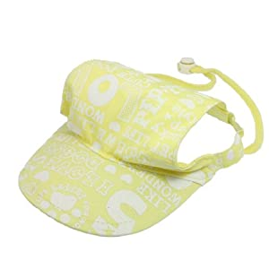 Amazon.com : Pet Doggy Adjustable Chin-strap Summer Cap Visor Hat L