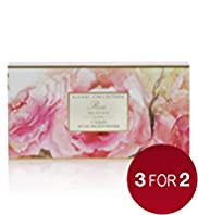 3 Floral Collection Rose Soaps