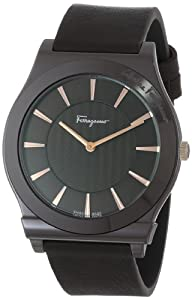 Salvatore Ferragamo Men's FQ3030013 1898 Brown Ion-Plated Coated Stainless Steel Leather Watch from Salvatore Ferragamo