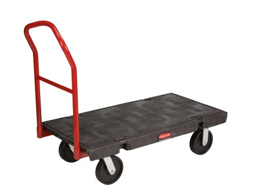 Rubbermaid Commercial FG444100 Heavy Duty Platform Truck, 2000 lbs Capacity, 48