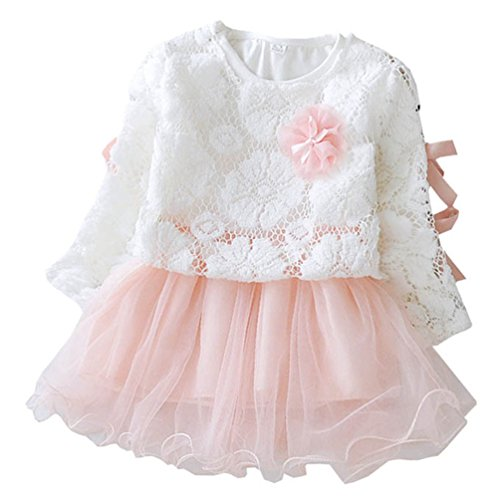 Waboats Summer Kids Baby Girl Flower Cotton Two Sets Dress 12M Pink