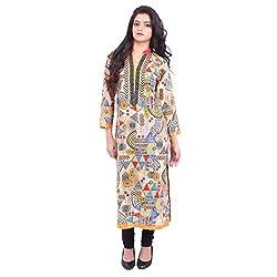 Radhya Women's Unstiched Kurti (Pan19_Multi Color)