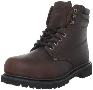 Skechers For Work Women's Raffish Boot,Dark Brown,5.5 M US