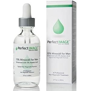 Men's Premium Minoxidil 15% & Azelaic Acid 5% DHT Inhibitor. Retinol Enhanced Thinning Hair Loss / Hair Regrowth Treatment. (Professionally Formulated)