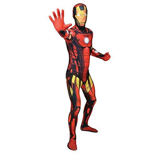 Seconda pelle Morphsuit TM lusso Iron Man, taglia M