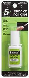 5 Second Nail Brush On Nail Glue, 6-Gram