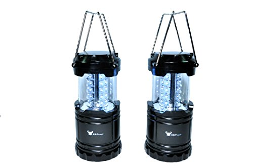 2-Pack-of-Water-Resistant-Portable-Ultra-Bright-LED-Lantern-Flashlight-for-Hiking-Camping-Blackouts