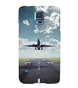 TAKE OFF VIEW OF AN AIRCRAFT 3D Hard Polycarbonate Designer Back Case Cover for Samsung Galaxy S5 G900i :: Samsung Galaxy S5 i9600 :: Samsung Galaxy S5 G900F