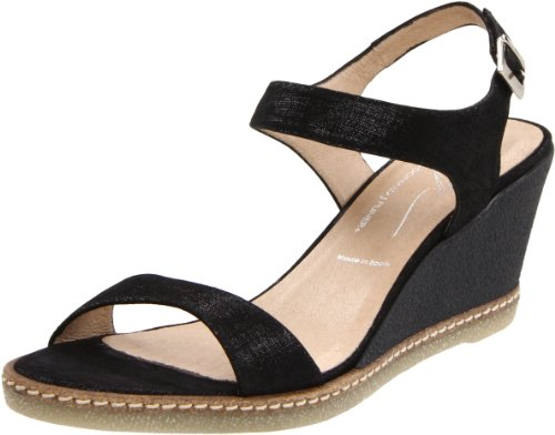 Donald J Pliner Women's Prema Wedge Sandal,Black,8.5 M US