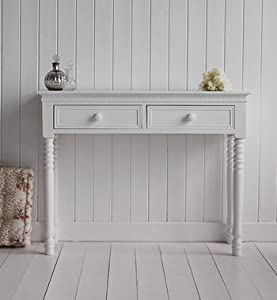 New england white console table with ceramic knobs kitchen home - White hall table uk ...