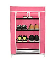 Home creations Collapsible Four Layer Shoe Rack/Shoe Organizer/Shoe Cabinet,Easy Installation Stand For Shoes