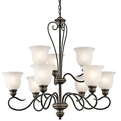 "Kichler 42907 Tanglewood 2-Tier Chandelier with 9 Lights - 72"" Chain Included -,"