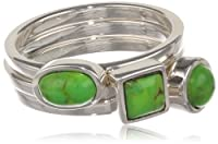 "Barse ""Basics"" Lime Turquoise Stackable Ring from Barse"