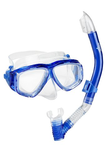 Speedo Adult Recreation Mask/Snorkel Set, Blue