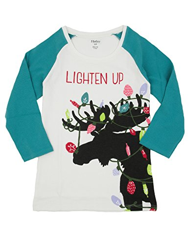 "Hatley ""Lighten Up"" Pajama Top - Moose With Christmas Lights (Small) back-949654"
