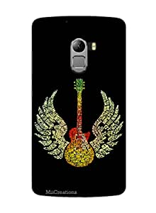 MiiCreations 3D Printed Back Cover for Lenovo Vibe K4 Note,For Guitar Lover
