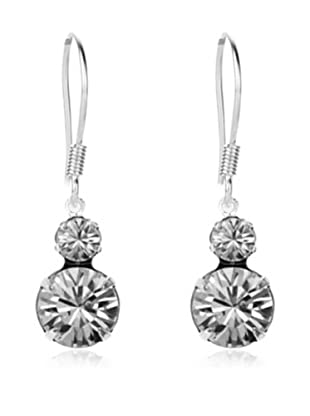 Diamond Style Pendientes Duo Transparente