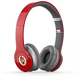 Acid Eye Red Bluetooth Wired and Wireless overear headphone S-450 with Aux cable connector