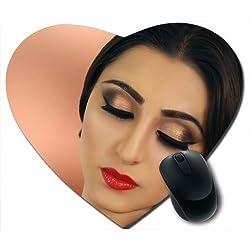 Awwsme Eye Golden Makeup And Lips Red Heart Mousepad