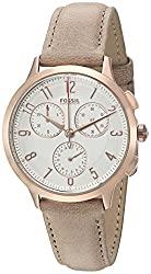 Fossil Abilene Chronograph Silver Dial Womens Watch - CH3016