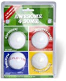 Second Chance Awesome 4 Some Four Joke Balls - Green/Red/Blue/Yellow
