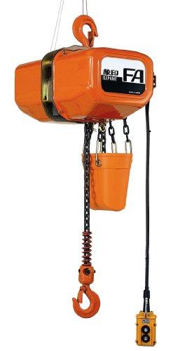 Elephant Lifting Fa Series Fa-050-10 3-Phase Electric Chain Hoist, Single Speed, 1100 Lbs Capacity, 10' Lift , 27.5 Fpm Lift Speed, 1.22 Hp, 230V/460V/60Hz
