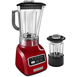 KitchenAid KSB655CER 5-Speed Blender with 56-Ounce BPA-Free Pitcher and 24-Ounce Culinary Jar - Empire Red