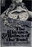 The Rhymes and Runes of the Toad (0026070405) by Schaeffer, Susan Fromberg