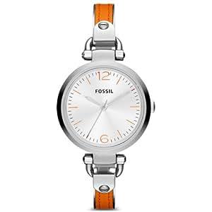 Fossil Damen-Armbanduhr Retro Traveler Analog Quarz Edelstahl beschichtet ES3257