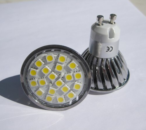 10 X GU10 SMD 5050 20 LED LIGHT BULBS ENERGY SAVING 4W WARM WHITE ** HIGH POWER LED's FOR REPLACING 50W - 60W HALOGEN **