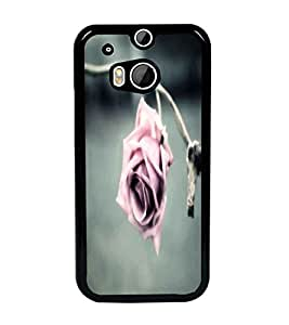 PrintDhaba Rose D-2378 Back Case Cover for HTC ONE M8 (Multi-Coloured)