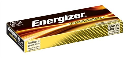Energizer Industrial Battery Long Life LR03 1.5V AAA Ref 636106 [Pack 10]