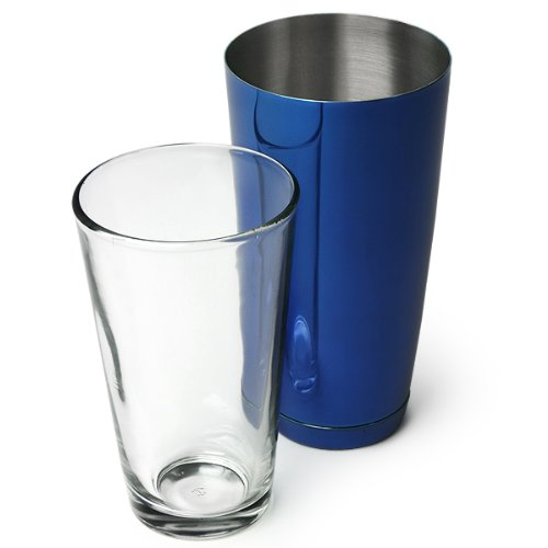 Professional Boston Cocktail Shaker Blue (Tin