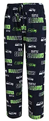 Seattle Seahawks NFL with Seahawks Logo Scatter Pattern Men's Pajama Pants