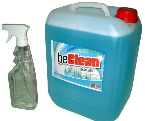 glasreiniger-beclean-clear-10l-kanister-mit-einer-spruhflasche