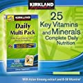 Kirkland Signature Energy Boosting Nutrients Daily Multi Pack, with Asian Ginseng Extract B-50 Vitamins, 100 Packettes