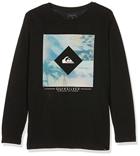 Quiksilver Diamond Day-Maglietta a maniche corte da ragazzo, colore: nero, taglia: 16 anni (taglia del produttore: XL/16)