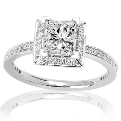 cheap side diamond square engagement c shaped cut ring rings floating round stones e for halo with women diamonds