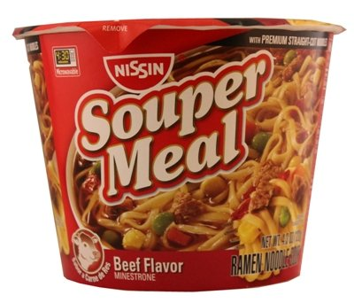 Nissin Souper Meal Beef Minestrone 4.3 Ounce-Pack Of 6
