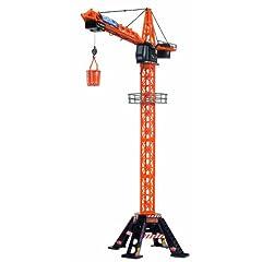 Dickie 3462439 - Mega Crane, Kabel FS, Kran mit Kabelfernsteuerung, 120 cm