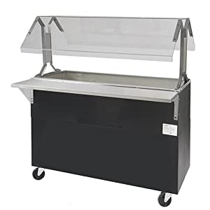 "Central Restaurant BMACP3-B-SB Refrigerated Food Bar - 3 Wells, 47-1/8""W"