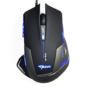E-3lue Mazer USB Blue LED 2500DPI Wired Optical Mouse Gaming Mouse Mice