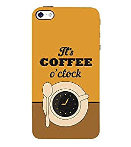 It's Coffee Time 3D Hard Polycarbonate Designer Back Case Cover for Apple iPhone SE