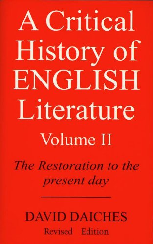A critical History of English Literature vol-2