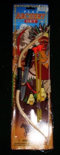 TOY INDIAN PLAY SET TOY INDIAN ARCHERY BOW SET WITH TOY PLASTIC BOWIE KNIFE - BOW SIZE 15