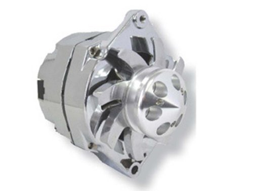 NEW LActrical ALTERNATOR CHEVY HOLDEN BBC SBC GM HOTROD CHROME 3 THREE WIRE WITH ALUMINUM BILLET PULLEY AND FAN 110AMP*ONE YEAR WARRANTY* (Chrome Alternators compare prices)