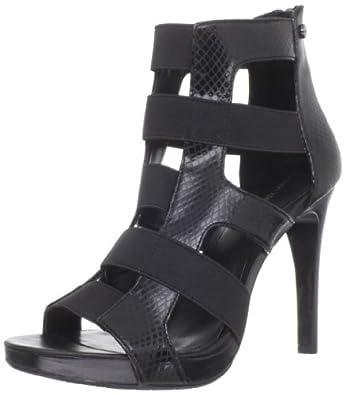 Calvin Klein Women's Laurianna Platform Sandal,Black,10 M US