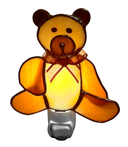 Cute Brown Bear Baby Night Lights - Stained Glass - Nightlights for kids, Infants - 1