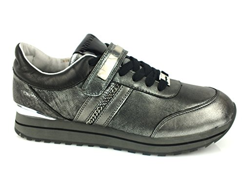 HYPNOSI Fiona sneakers donna PELLE TESSUTO PEWTER GRIGIO 39