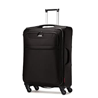 Samsonite Lift Spinner 25  Inch Expandable Wheeled Luggage, Black, One Size